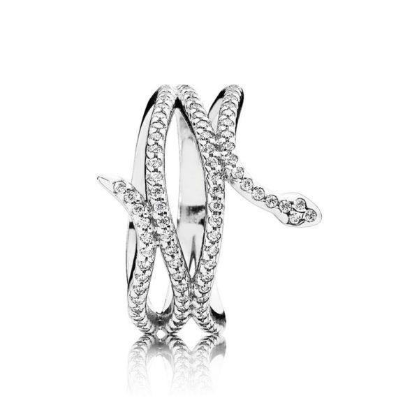 190954cz Pandora Swirling Snake Ring