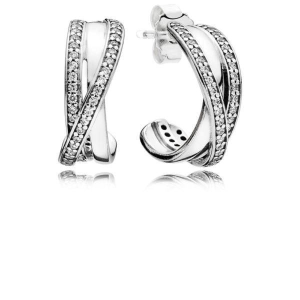 290730CZ entwined hoop earrings pandora