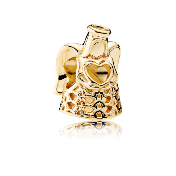 750999 pandora golden angel charm