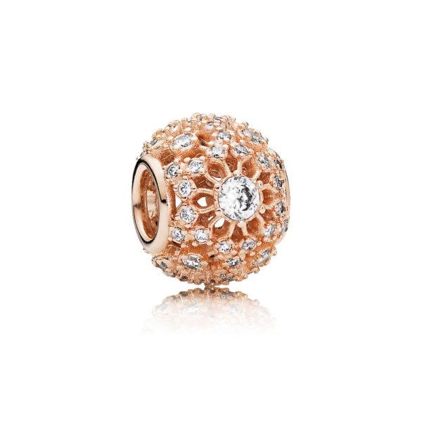 781370cz Pandora Rose Inner Radiance Charm Rose Gold