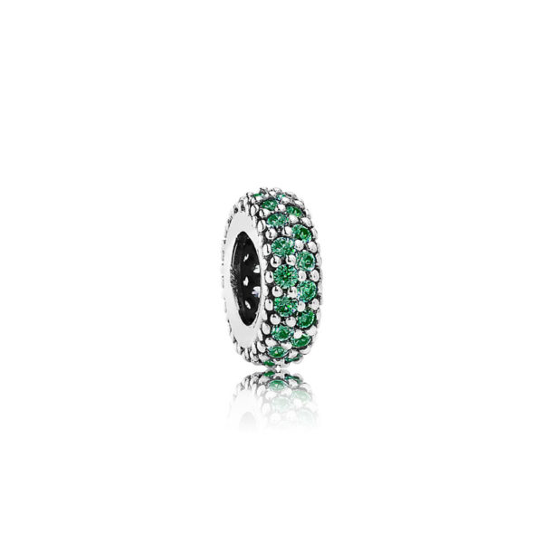 791359czn pandora Green Pavé Inspiration Within Spacer Charm