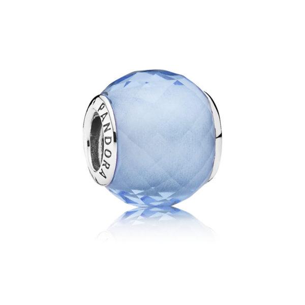 791499sbq pandora Petite Facets Charm, Blue Synthetic Quartz