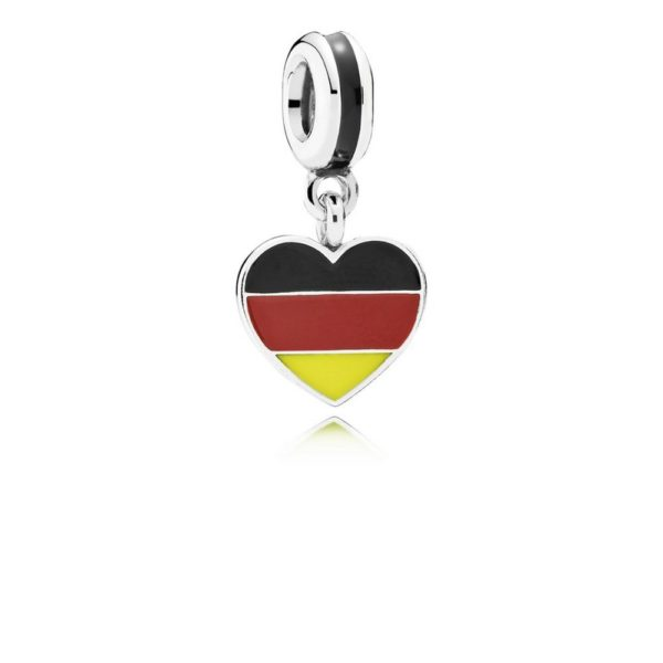 791545enmx pandora Germany Heart Flag Pendant Charm