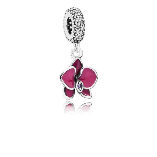 791554en69 pandora Orchid Pendant Charm