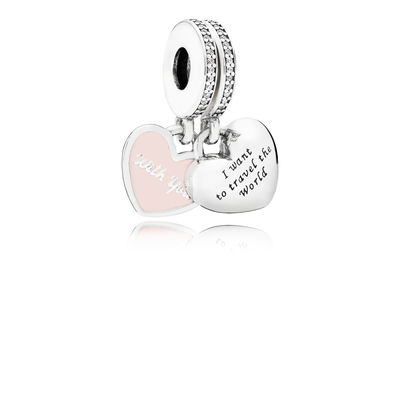 791717cz Pandora Travel Together Forever Pendant Charm