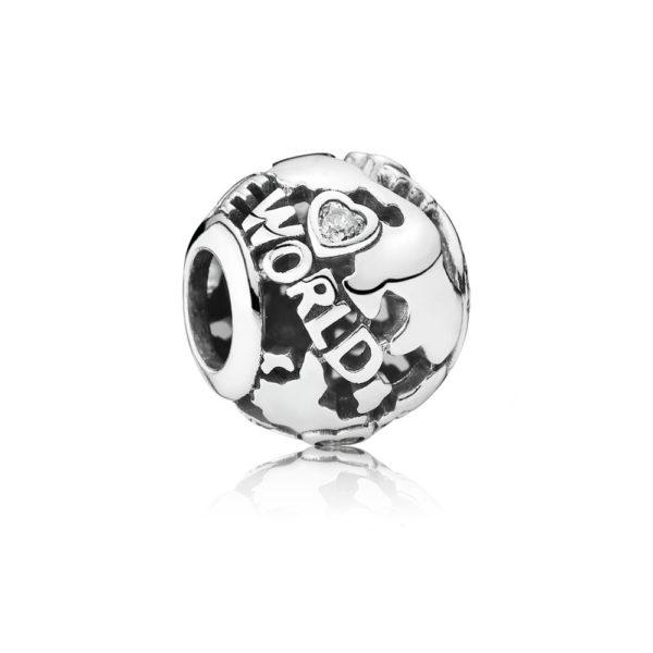 791718cz Pandora Around the World Charm