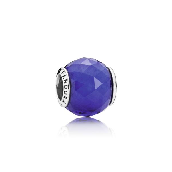 791722ncb Pandora Royal Blue Crystal Geometric Facets Charm