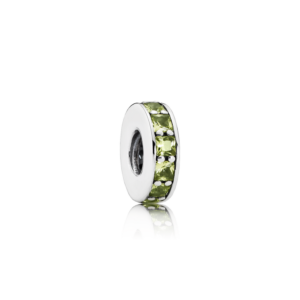 791724nlg Pandora Olive Green Crystal Eternity Spacer Charm