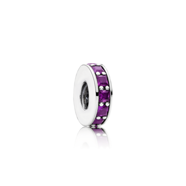 791724nrp Pandora Royal Purple Crystal Eternity Spacer Charm