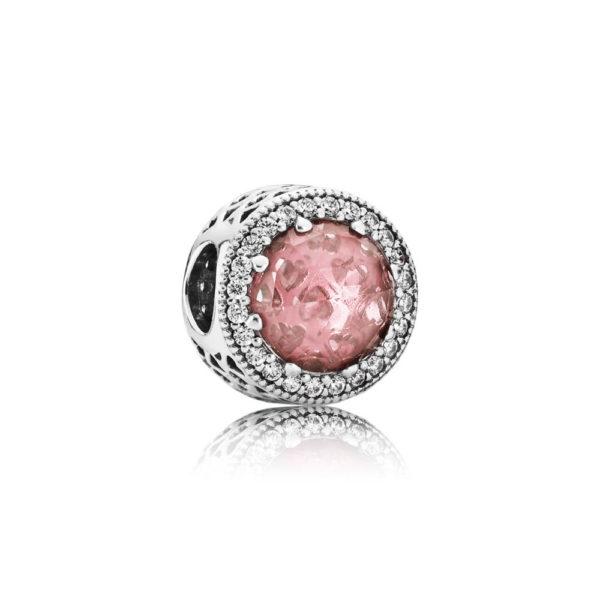 791725nbp Pandora Rosy Pink Blush Crystal Radiant Hearts Charm