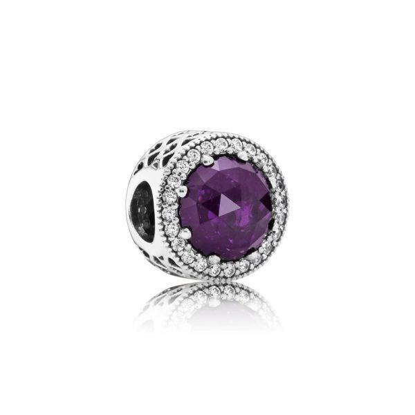 791725nrp Pandora Royal Purple Crystal Radiant Hearts Charm