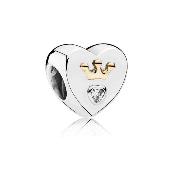 791739cz Pandora Majestic Heart Charm