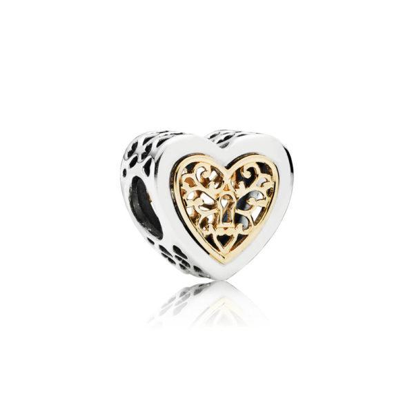 791740 Pandora Locked Hearts Charm