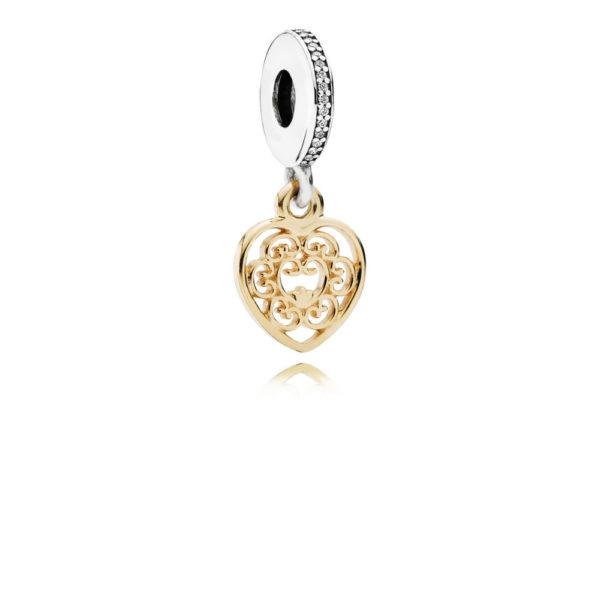 791742cz Pandora Magnificent Heart Pendant Charm
