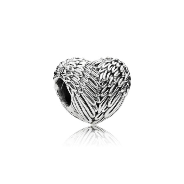 791751 Pandora Angelic Feathers Angel Wings Heart Charm