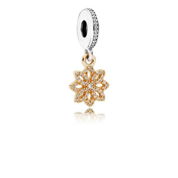 791757cz Pandora Lace Botanique Pendant Charm 14k Gold