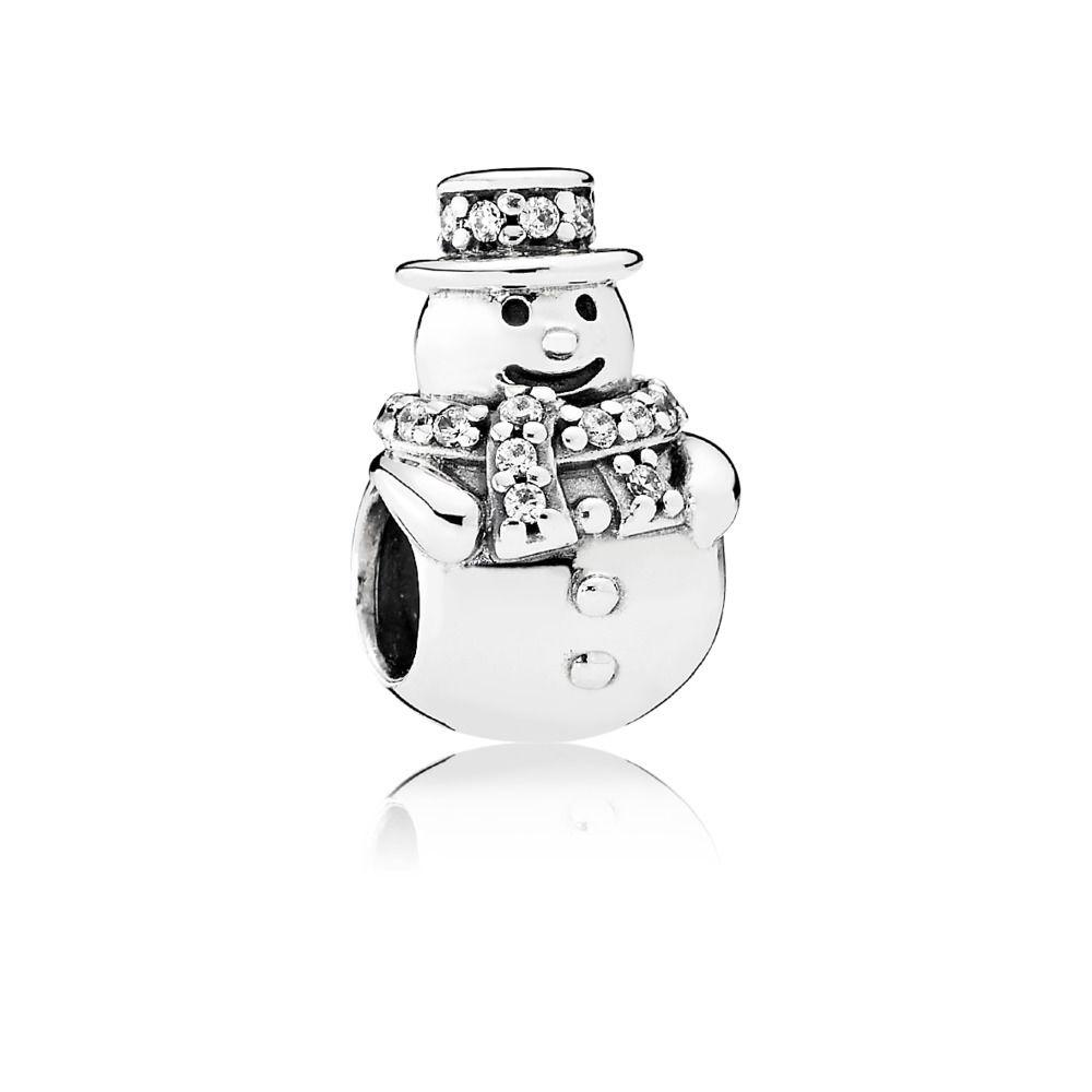 792001CZ pandora snowman charm