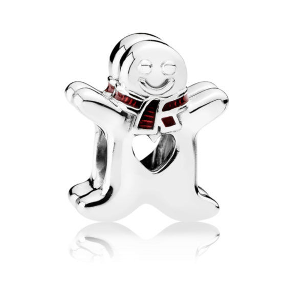 792002en07 pandora sweet gingerbread man charm
