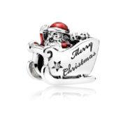 792004cz pandora sleighing santa charm