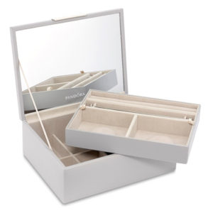 PANDORA Dove Grey Medium Jewellery Box (No. 75003)