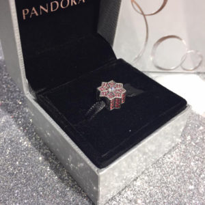 pandora black friday charm poinsettia
