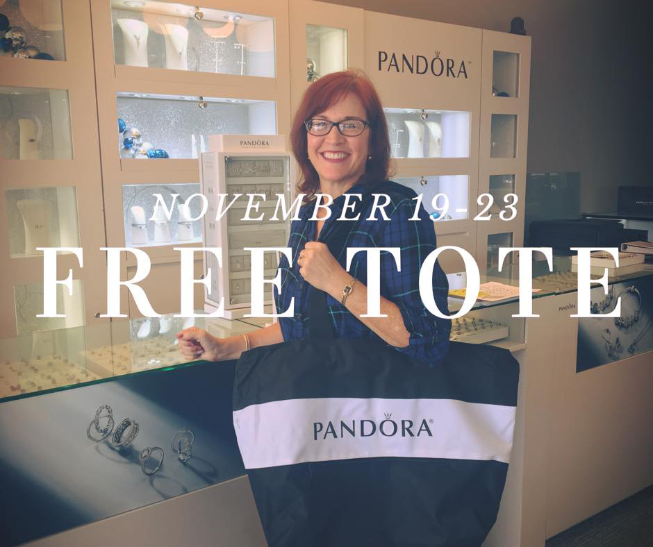 Towne Square Jewelers promotion tote bag pandora