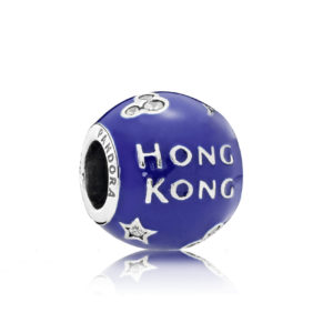Hong Kong Disneyland 10 Year Celebration Blue Enamel