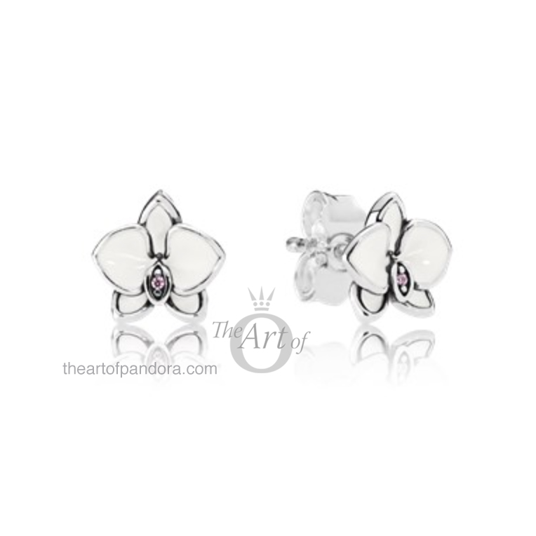 290749EN12-White-Orchid-Earrings-mr White Orchid Earrings pandora summer 2017