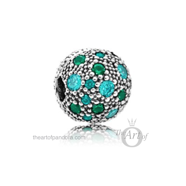791286MCZMX-Green-Mosaic-Clip-mr Cosmic Stars Clip Green pandora summer 2017