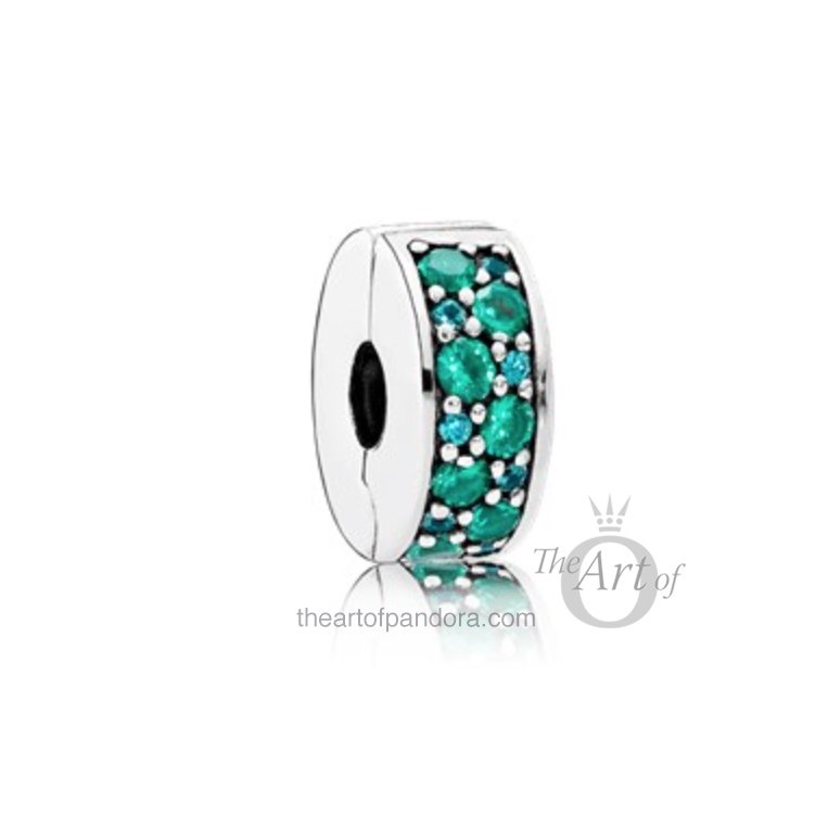 Mosaic Shining Elegance Spacers in Blue, Green and Pink pandora summer 2017