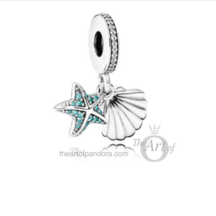 Tropical Starfish and Seashell Pendant Charm pandora summer 2017