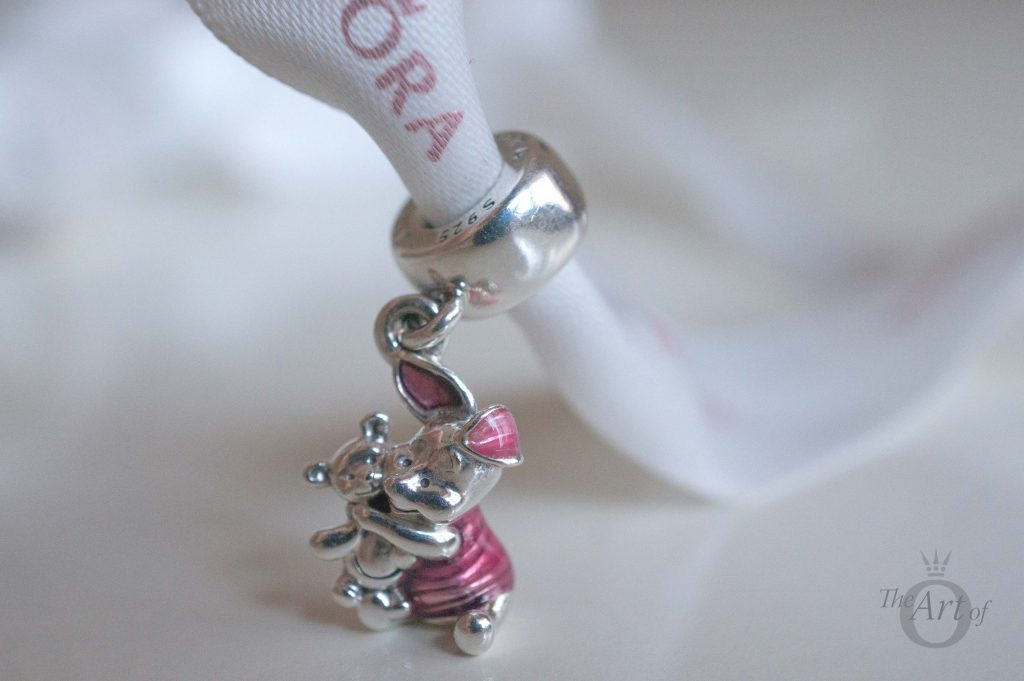 9d7e9e9ce The back of the PANDORA Disney Piglet Charm is quite simple, with the main  detail being the lines in Piglet's pink jumper.