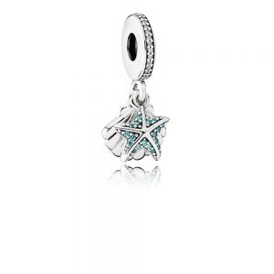 ad896dae5 The theme of the PANDORA Summer 2017 collection is 'Under the Sea' and the  Tropical Starfish & Seashell Pendant Charm (792076CZF) captures that theme  ...