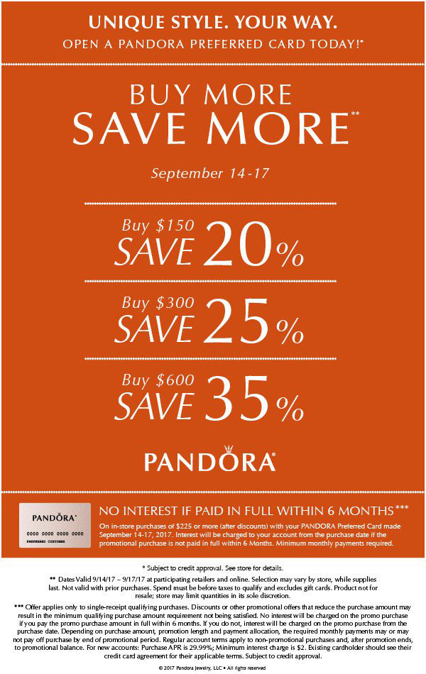 Buy More Save More Promotion The Art Of Pandora More