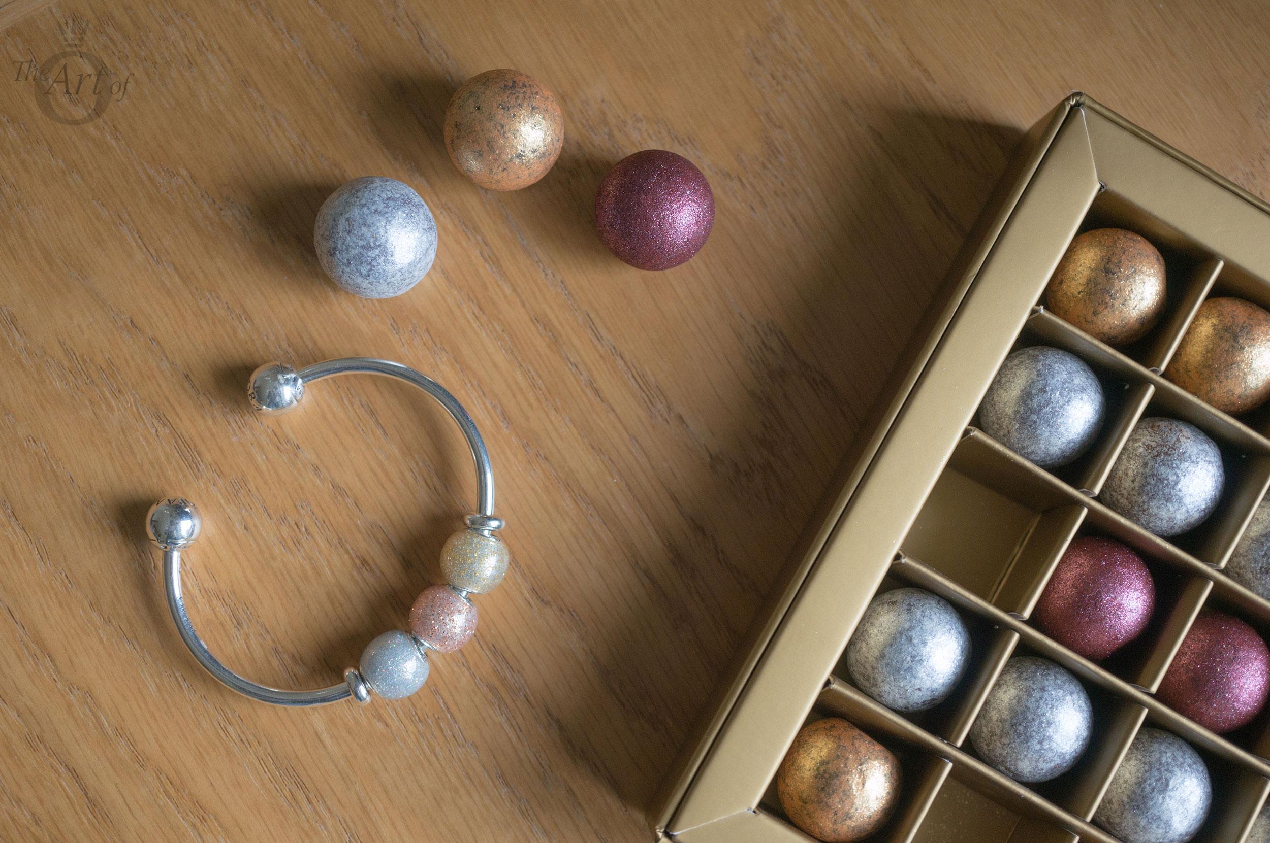 New Review Pandora Silver Golden Amp Rose Glitter Ball