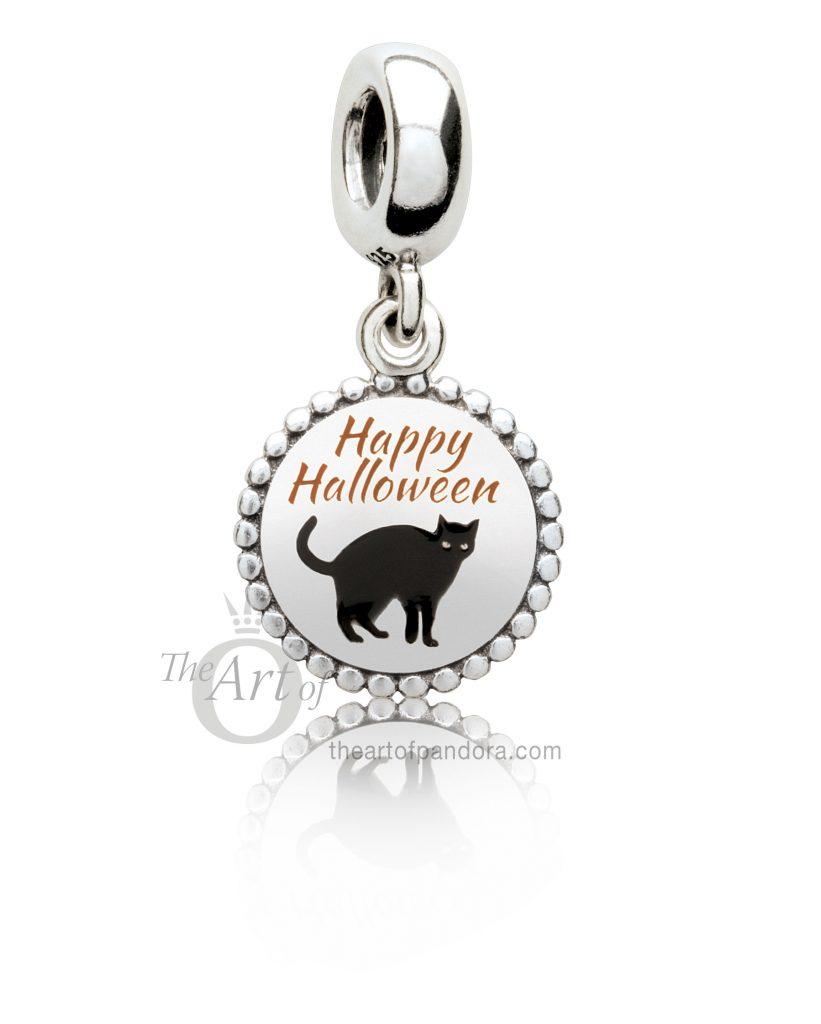 PANDORA Halloween 2017 pumpkin treat or treat black cat boo
