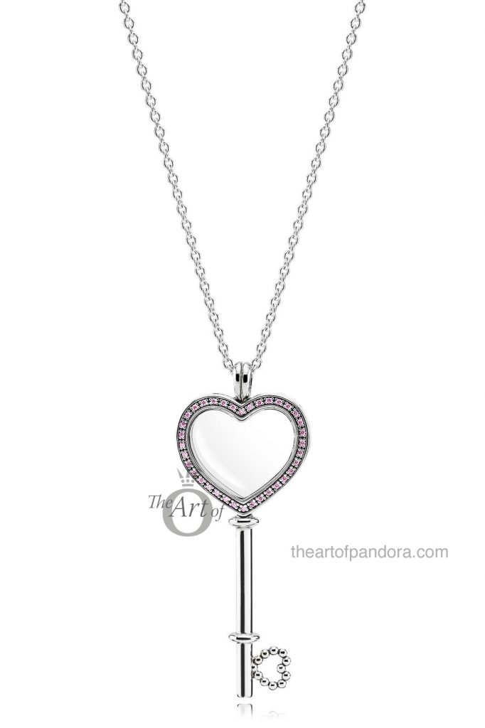PANDORA Large Pink Heart Key Floating Locket £140 / $200 CAD