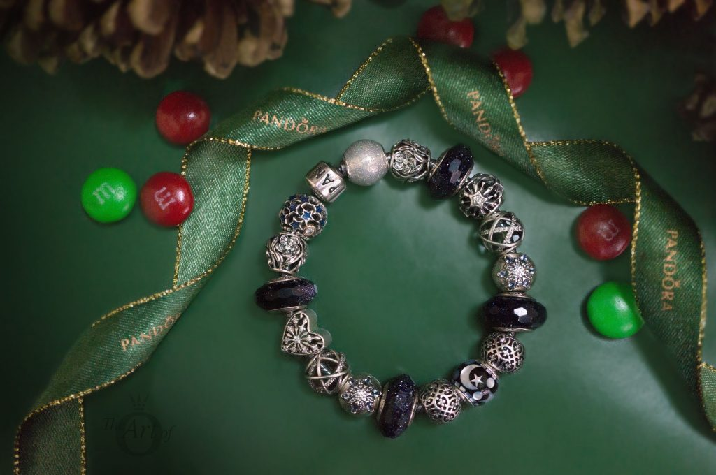 967799e84b6 Much of the PANDORA Winter 2017 collection is star and blue based and once  again I used the gorgeous, retired, Midnight Stardust Murano charms to add  subtle ...