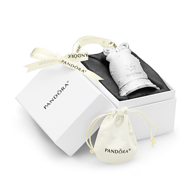 PANDORA free ornament gift with purchase jingle bell ceramic holiday christmas 2017 2018 winter valentines becharming.com mall of america