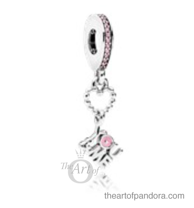 the pandora you me dangle charm has baby pink enamel and cubic zirconia stones it is quite sweet for younger pandora fans but wont be making it onto my