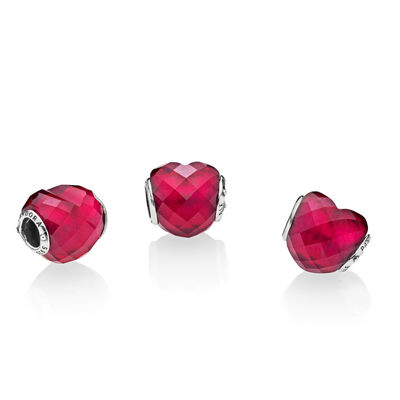 pandora fuchsia shape of love charm 796563NFR theartofpandora blog becharming pandora club charm 2018 spring valentines mothers day autumn winter collection new