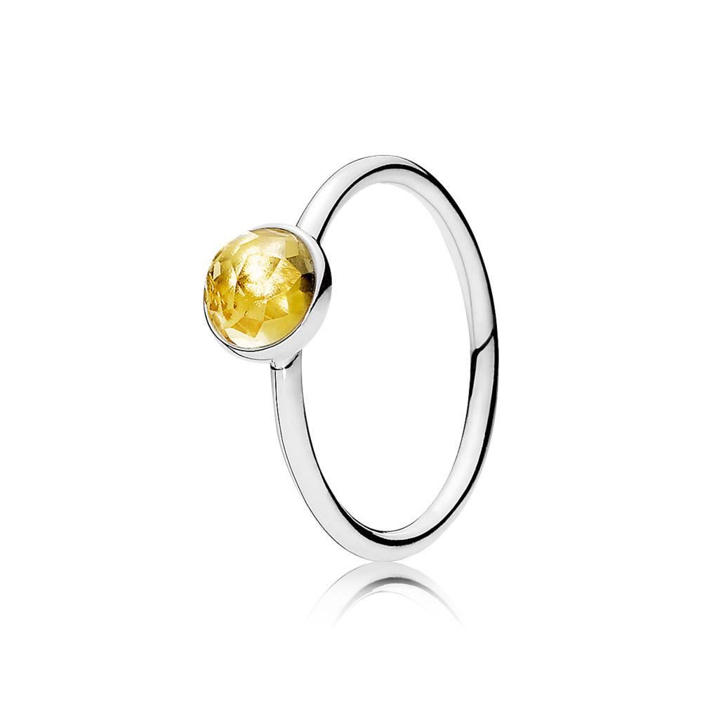 1bd54a839 November Droplet Birthstone Ring, Citrine - The Art of Pandora | More than  just a PANDORA blog