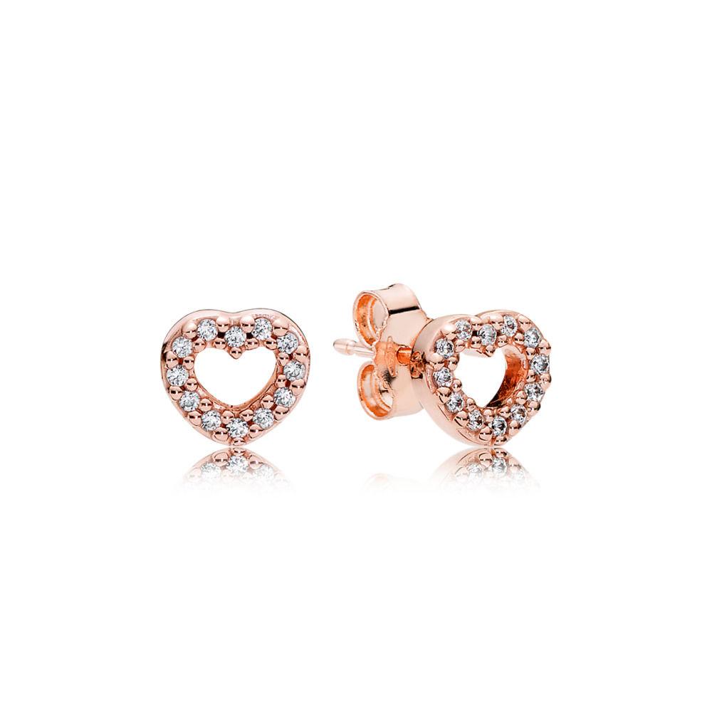 Captured Hearts Stud Earrings Pandora Rose Die Kunst Der Pandora