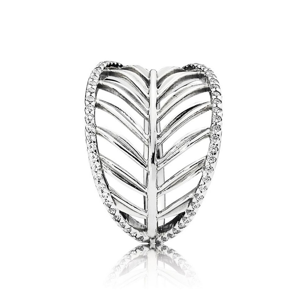 190952cz Pandora Tropical Palm Leaf Ring