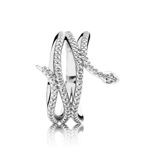 190954cz Pandora Swirling Snake Ring