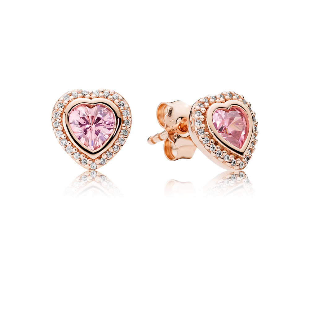 Pink Sparkling Love Stud Earrings Pandora Rose The Art Of More Than Just A Blog
