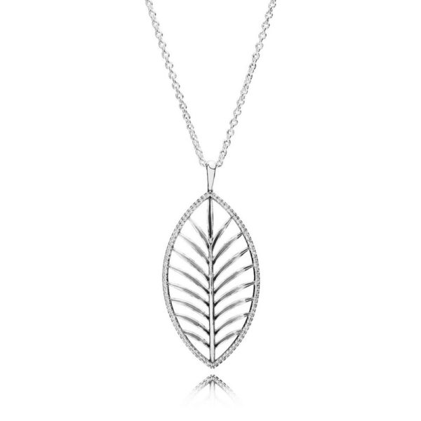 390370cz pandora Tropical Palm Pendant Necklace