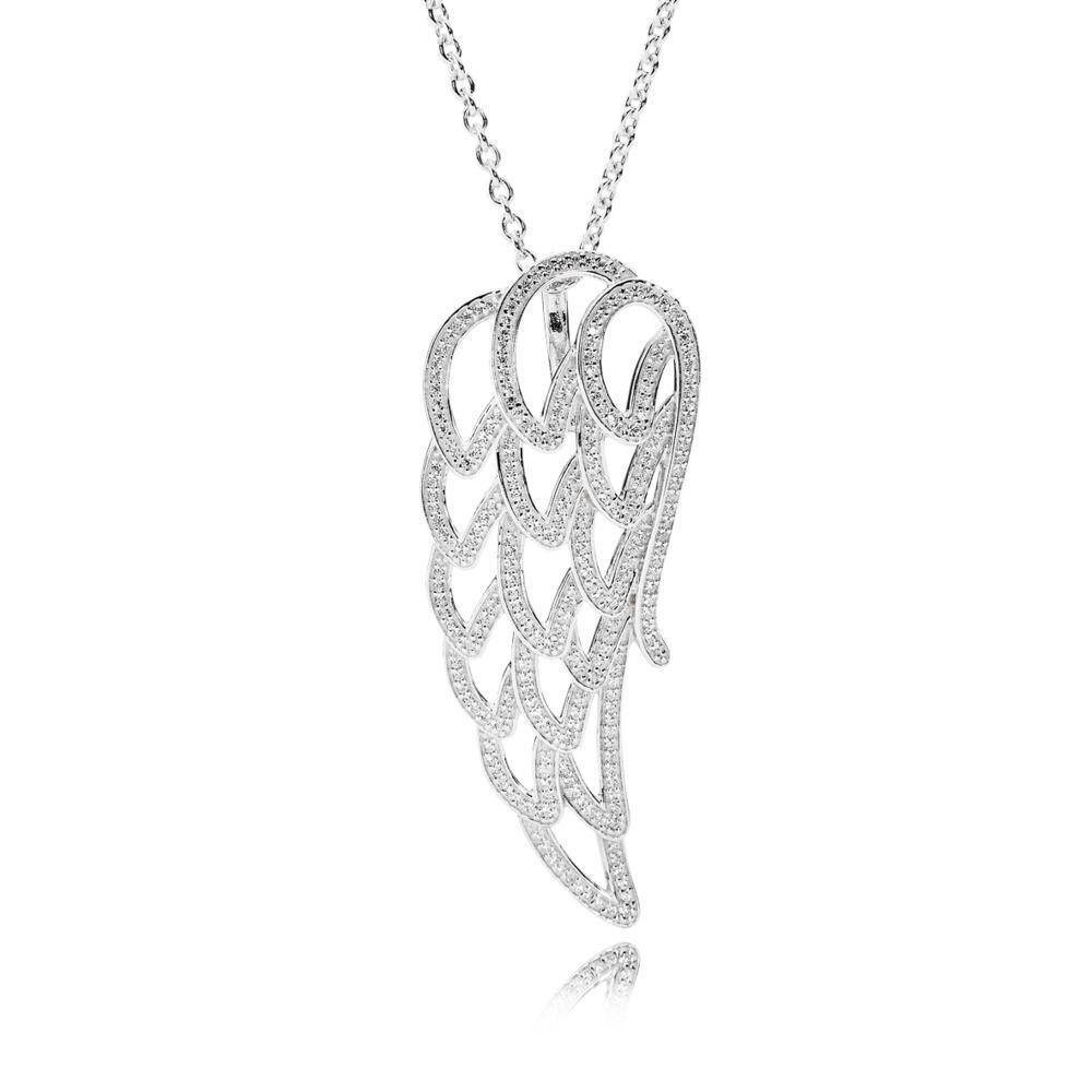 390374cz Pandora Angel Wing Necklace