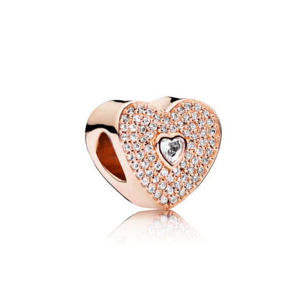 781555cz Pandora Rose Sweetheart Charm Rose Gold