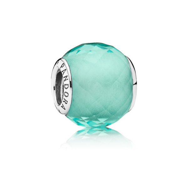 791499sgq pandora Petite Facets Charm, Green Synthetic Quartz